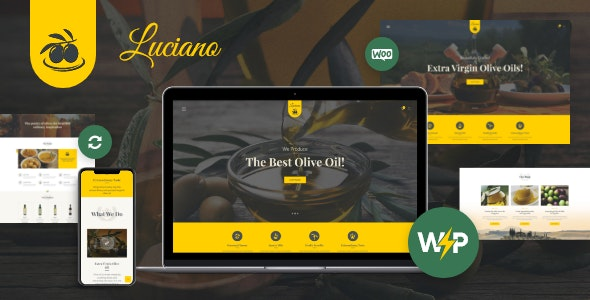 Olive Oil Farm and Vinegars Production WordPress Theme + RTL - Food Retail