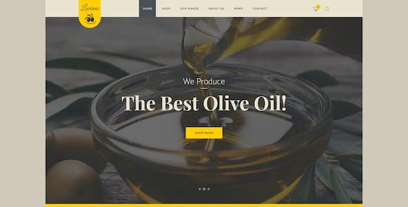 Olive Oil Farm and Vinegars Production WordPress Theme + RTL