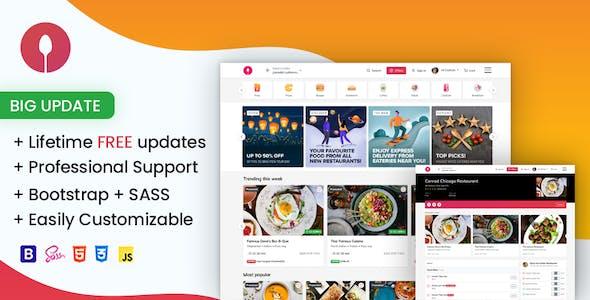 Swiggiweb - Online Food Ordering Website Template