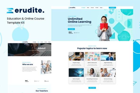 Erudite - Education & Online Course Elementor Template Kit - Education Elementor