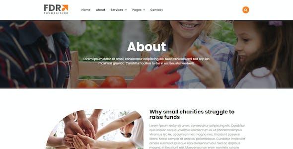 FDR - Fundraising Elementor Template Kit