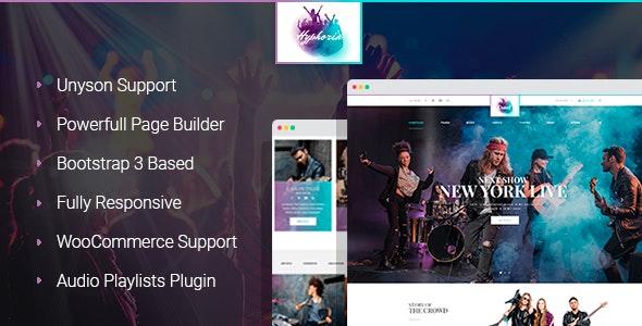 Hyphoria Rock Band Wordpress Theme By Mwtemplates Themeforest