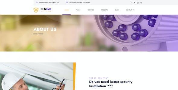 Benime - CCTV Surveillance Service PSD Template