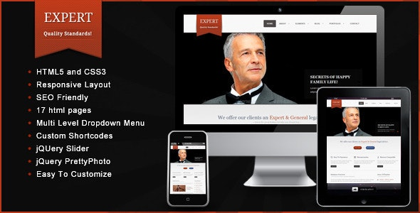 Expert – Responsive HTML Template - Corporate Site Templates