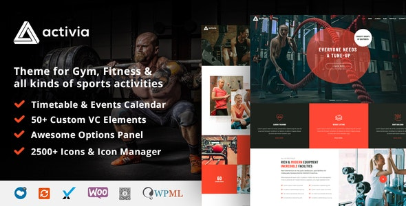Activia -  Gym and Fitness WordPress Theme - Health & Beauty Retail