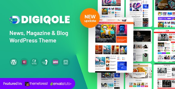 Digiqole - News Magazine WordPress Theme - News / Editorial Blog / Magazine