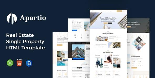 Apartio : Real Estate Single Property HTML Template
