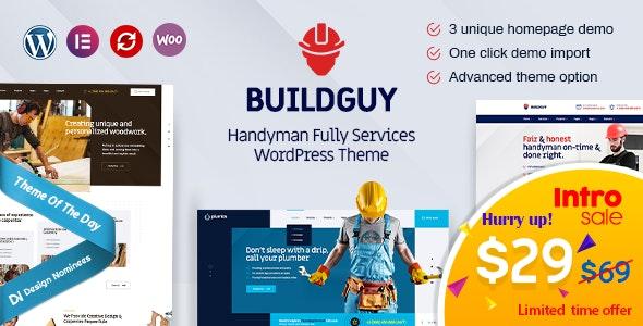 Buildguy - Handyman Renovation Services WordPress Theme - Business Corporate