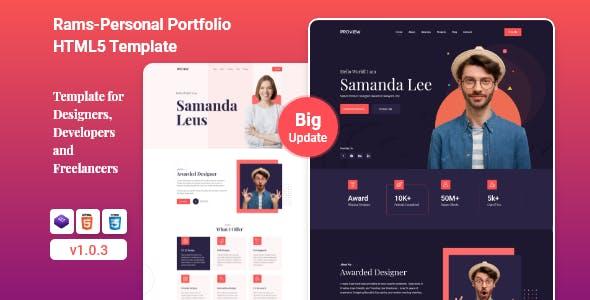Rams - Personal Portfolio HTML5 Template