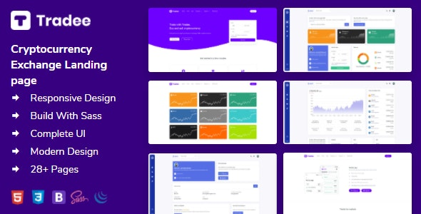 Tradee - Cryptocurrency Exchange HTML Template + Dashboard - Software Technology