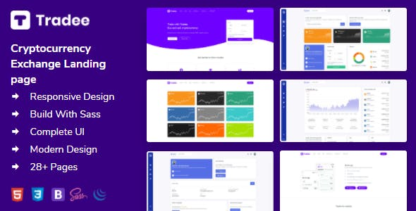 Tradee - Cryptocurrency Exchange HTML Template + Dashboard