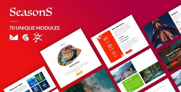 Seasons Email-Template + Online Builder