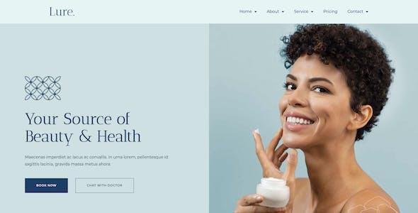 Lure - Modern Dermatology Elementor Template Kit