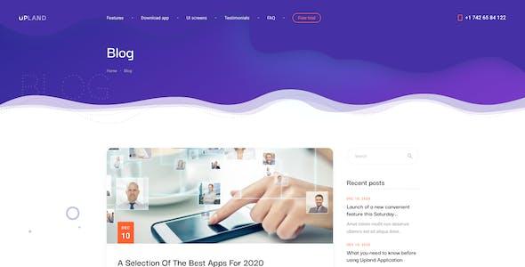 Upland - Mobile App Landing Page Figma UI Template