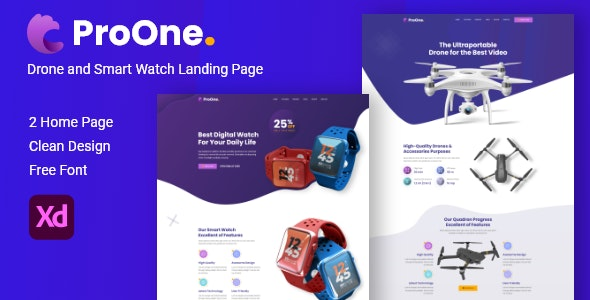ProOne - Product Landing Page - Marketing Corporate
