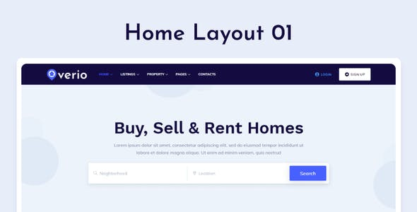 Verio - Real Estate HTML Template