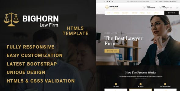 Bighorn -Lawyer HTML Template