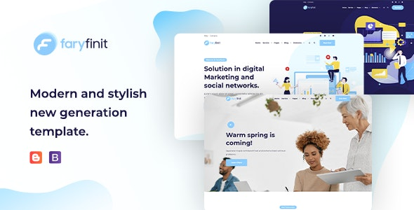 Faryfinit - Multipurpose Blogger Template - Blogger Blogging