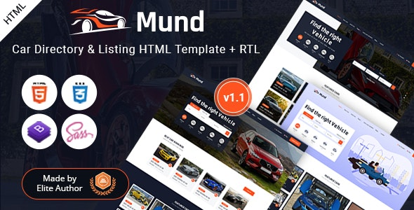 Mund - Car Directory & Listing HTML Template - Business Corporate