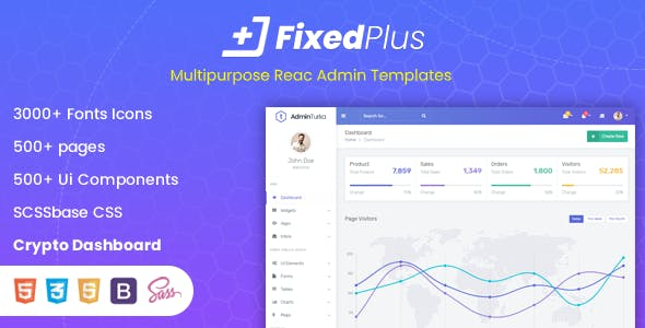 FixedPlus - Multipurpose React Admin Templates