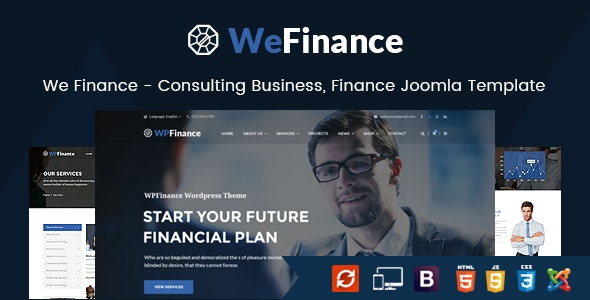 We Finance - Consulting Business Joomla Template - Business Corporate