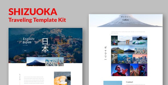 Shizuoka - Travel Elementor Template Kit