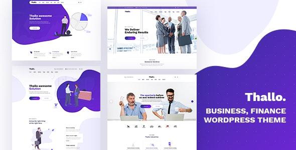 Thallo – Consulting & Finance WordPress Theme - Business Corporate
