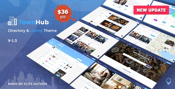 TownHub - Directory & Listing WordPress Theme - Directory & Listings Corporate