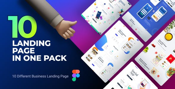 POCO   Landing Page Package Figma Template