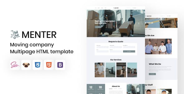 Menter - Moving Company HTML5 Template