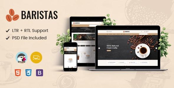 Baristas - Coffee Responsive Prestashop Theme - PrestaShop eCommerce