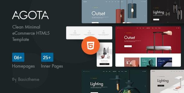 Agota - Clean Minimal eCommerce HTML5 Template - Shopping Retail