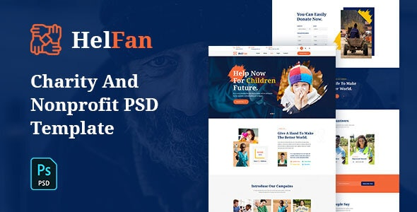 HelFan - Charity and Nonprofit PSD Template - Charity Nonprofit