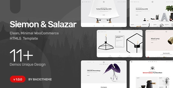 Siemon - Clean Minimal eCommerce HTML5 Template - Shopping Retail