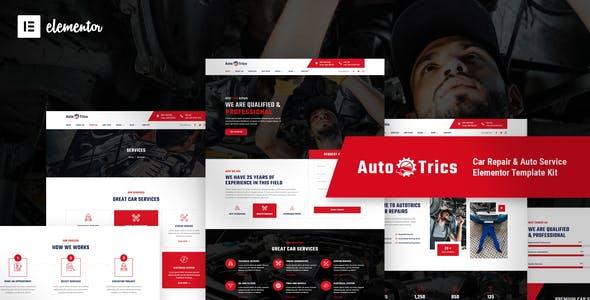AutoTrics – Car Repair & Auto Service Elementor Template Kit