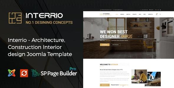 Interrio - Architecture & Interior design Joomla Template - Business Corporate