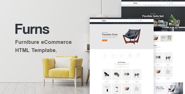 Furns - Furniture eCommerce HTML Template