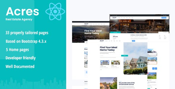 Acres - Real Estate React Template