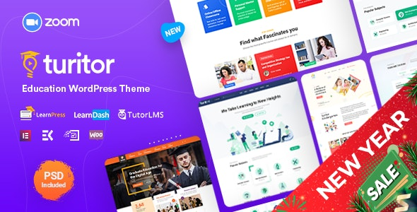 Turitor - LMS & Education WordPress Theme - Education WordPress