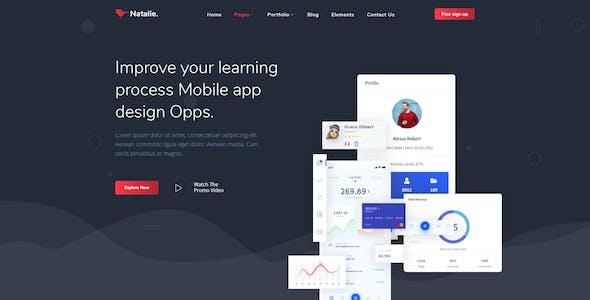 Natalie - MultiPurpose PSD Template for Startup & Agency