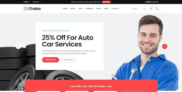 Chaka - AutoParts & Accessories Shop PSD Template