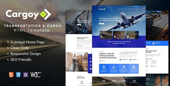 Cargoy - Transportation & Cargo HTML Template - Corporate Site Templates