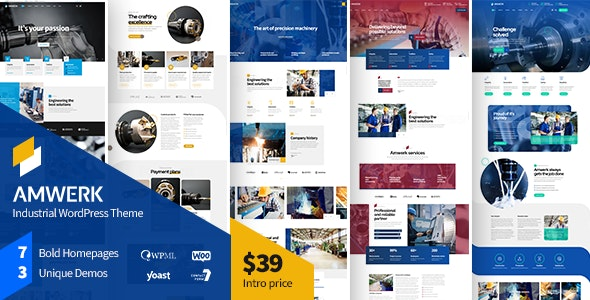 Amwerk - Industry WordPress Theme - Business Corporate