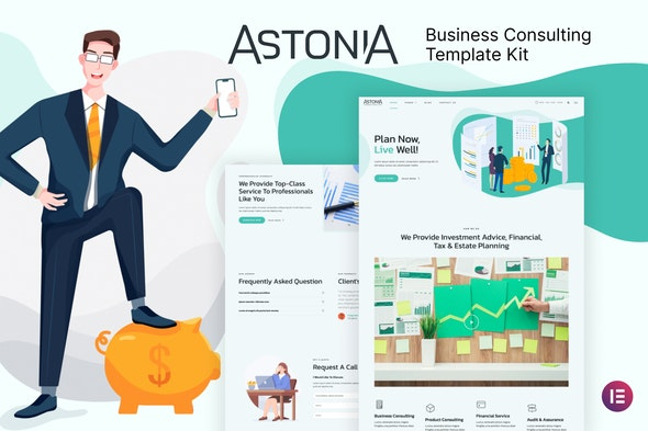 Astonia - Business Consulting Elementor Template Kit - Business & Services Elementor