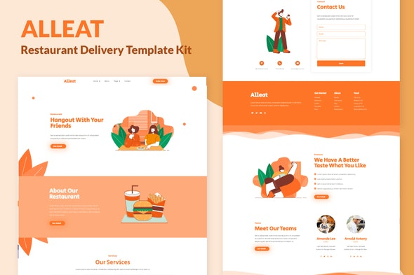 Alleat - Restaurant Elementor Template Kit - Food & Drink Elementor