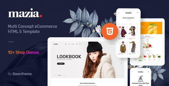 Mazia - Clean Minimal eCommerce HTML5 Template - Shopping Retail