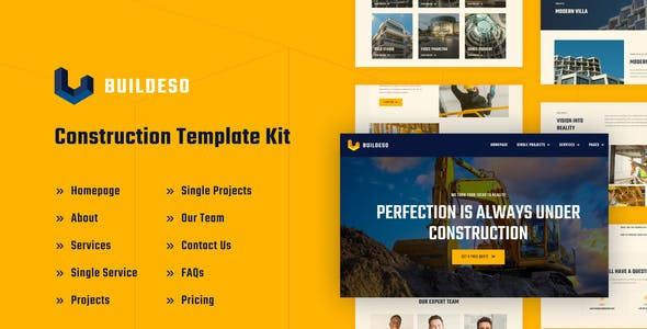 Buildeso | Construction Elementor Template Kit