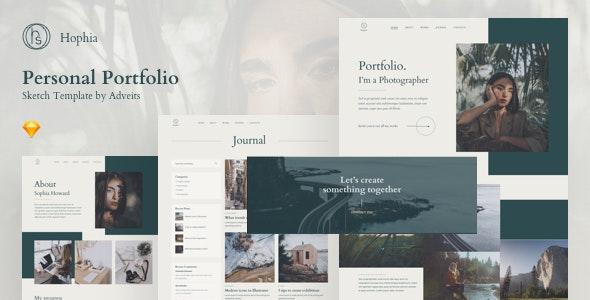 Hophia - Personal Portfolio Sketch Template - Portfolio Creative