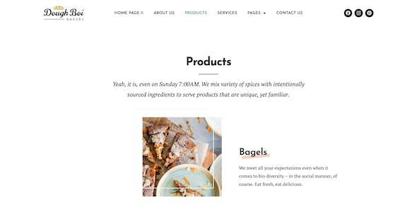 DoughBoiBakery - Bakery Cakery Elementor Template Kit