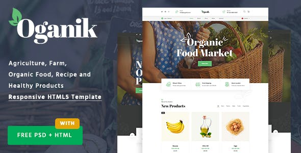 Oganik - HTML Template For Organic Food Products & Agriculture Farm